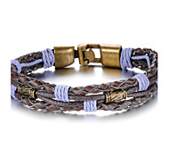 Personality Purple Leather Tongkou Men's Bracelet Christmas Gifts