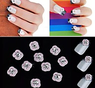 10PCS 3D Manicure Alloy Stick Crystal Gold With Diamonds Nail Art Decorations