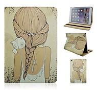 la moda de nuevo PU de la muchacha tableta protege el caso con el soporte para el ipad 2 de aire