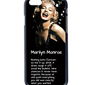 """Doopootoo™ Marilyn Monroe Words Painted Pattern Slim Plastic Back Hard Case Cover For iPhone 6 4.7"""""""