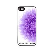 caja del teléfono personalizada - la mitad de la caja del metal del diseño de la flor púrpura para iphone 5 / 5s