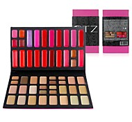 alta qualidade 52 cores Lip Gloss / corretivo maquiagem conjunto paleta