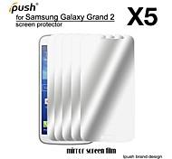 alta transparencia espejo Protector de pantalla para samsung galaxy grand 2 (5 piezas)