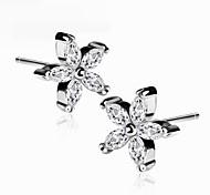 The Petals Earrings Jewelry,in 925 Sterling Silver Earrings Jewelry,Cubic Zirconia Earrings,Women's Earrings Jewelry