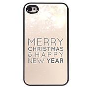 Buon Natale e felice nuovo caso duro di alluminio anno modello per iphone 4 / 4s
