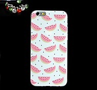 Watermelon Pattern Slim TPU Back Cover Case With The Dustproof Plug for iPhone 6