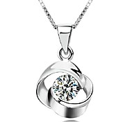 925 Sterling Silver Pendant Rotating Love Fall In Love At First Sight