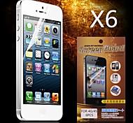 beschermende hd screen protector voor iPhone 4 / 4s (6 stuks)