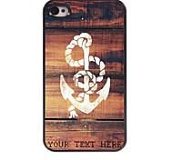 personalizzato phone case - ancoraggio caso di disegno del metallo per iPhone 4 / 4S