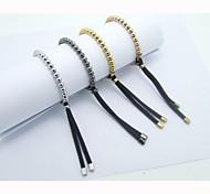 Stainless steel bead elasticity bracelet