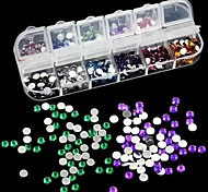 2500pcs 2 millimetri rotonda strass acrilico decorazione nail art