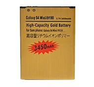 Replacement 3450mAh Rechargeable Dual Cell Li-ion Battery for Samsung Galaxy S4 Mini / i9190 (Golden)
