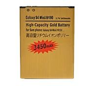 Ersatz 3450mah wiederaufladbare Dual-Zellen Li-Ionen-Batterie für Samsung-Galaxie s4 Mini / i9190 (goldene)