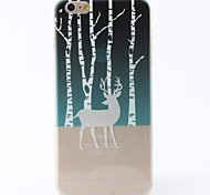 Deer In Forest Style TPU Soft Case for iPhone 6