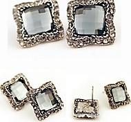 High Quality OL Fashion Crystal Gemstone Earrings #24-1