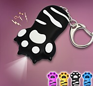 Lovely Cat Claw Keychain LED Sound Key Ring Rubber Key Chain(More Colors)
