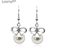 Lureme®Exquisite Pearl Bow Earrings