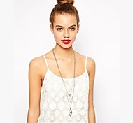 Fashion Unique Two Star Rhombus Combination Golden Alloy Pendant Necklace(3 Pcs)