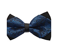 мужская старинные королевский синий Пейсли бабочкой микроволокна моды угол галстук
