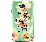 For LG Case Card Holder / Wallet / with Stand / Flip Case Back Cover Case Flower Soft TPU LG