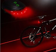 Bike Light,LS083 Bicycle 5 Led Laser Light Laser Beam Bike Rear Tail Lamp Light,Safety