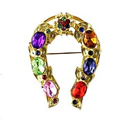2014 Hot Sale Shining Colorful Gemstone Women China Wholesale Brooch