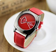 Womens'  Classic Fashion Leather Strap Watch   Square High quality Japanese watch movement(Assorted Colors)