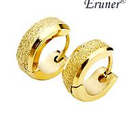 Herren Titan Stahl goldenen sandähnliche Ohrring