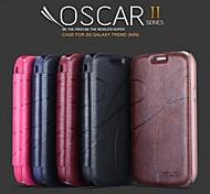 promotion yu trois étuis en cuir série de téléphone pour samsung galaxy tendance i699 (couleurs assorties))