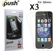 High Transparency HD LCD Screen Protector for iPhone 4/4S (3 Pieces)