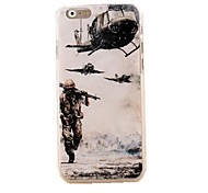 Helicopter Soldiers Pattern PC Relief Back Cover for iPhone 6 Plus