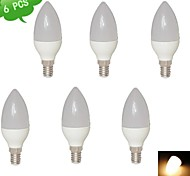 DUXLITE E14 8 W 15 SMD 2835 680 LM Warm White C35 Candle Bulbs AC 85-265 V