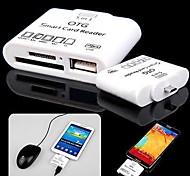 5-en-1 micro usb tf / sd / ms OTG lector de tarjetas inteligentes para la galaxia i9500 / i9300 / nota 3