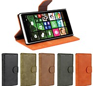 Solid Color Open Up and Down PU Leather Full Body Case for Nokia Lumia 830 (Assorted Colors)