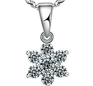 Ladies'/Women's Silver/Cubic Zirconia/Alloy Necklace Anniversary/Wedding/Gift/Party/Daily/Causal/Office & Career Cubic Zirconia