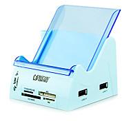 5 ports USB 2.0 haute vitesse hub lecteur de carte sd / tf / ms