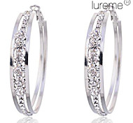 Earring Hoop Earrings Jewelry Women Party / Daily Crystal / Alloy Silver