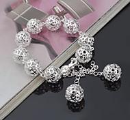 Stylish Silver Strand Beading  Women's Bracelet