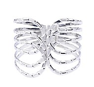 Lureme® Silver Plated Arc Shaped Alloy Bracelet