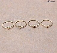 Eruner® Sterling Silver Small Ball Stud Nose Rings(4PCS)