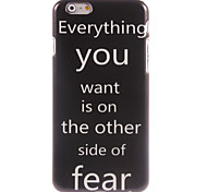 Aphorism Style Design Hard Case for iPhone 6 Plus