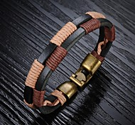 Leather Woven Men's Bracelet