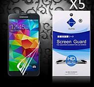 Protector de pantalla de alta definición con polvo absorbente para samsung i9600 galaxy s5 (5 piezas)