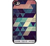 personalizzato phone caso - caso del triangolo di disegno del metallo colorato per iPhone 4 / 4S
