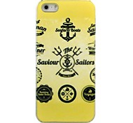 Gold Anchors Pattern Hard Case for iPhone 5/5S