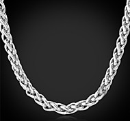 U7®Cool Men's 316L Stainless Steel Link Twisted Chain Chunky Necklace for Men Never Fade Necklace