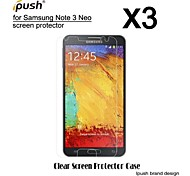 alta transparencia protector de pantalla LCD de alta definición con un paño de limpieza para Samsung Galaxy Nota 3 neo (3 piezas)