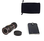 Apexel Optical 8X Zoom Telescope Lens Manual Focus with Back Case for Samsung Galaxy S4 I9500