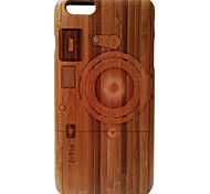 Kyuet Bamboo Case Artist Made Natural Bamboo Laser Engraving M9 Camera Shell Cover Skin Cell Phone Case for iPhone 6