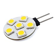 G4 1W 6 SMD 5050 76 LM Warm wit / Koel wit Decoratief 2-pins LED-lampen DC 12 V